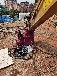 柳州破遂道二襯液壓圓盤鋸挖機鋸巖石鋸操作流程