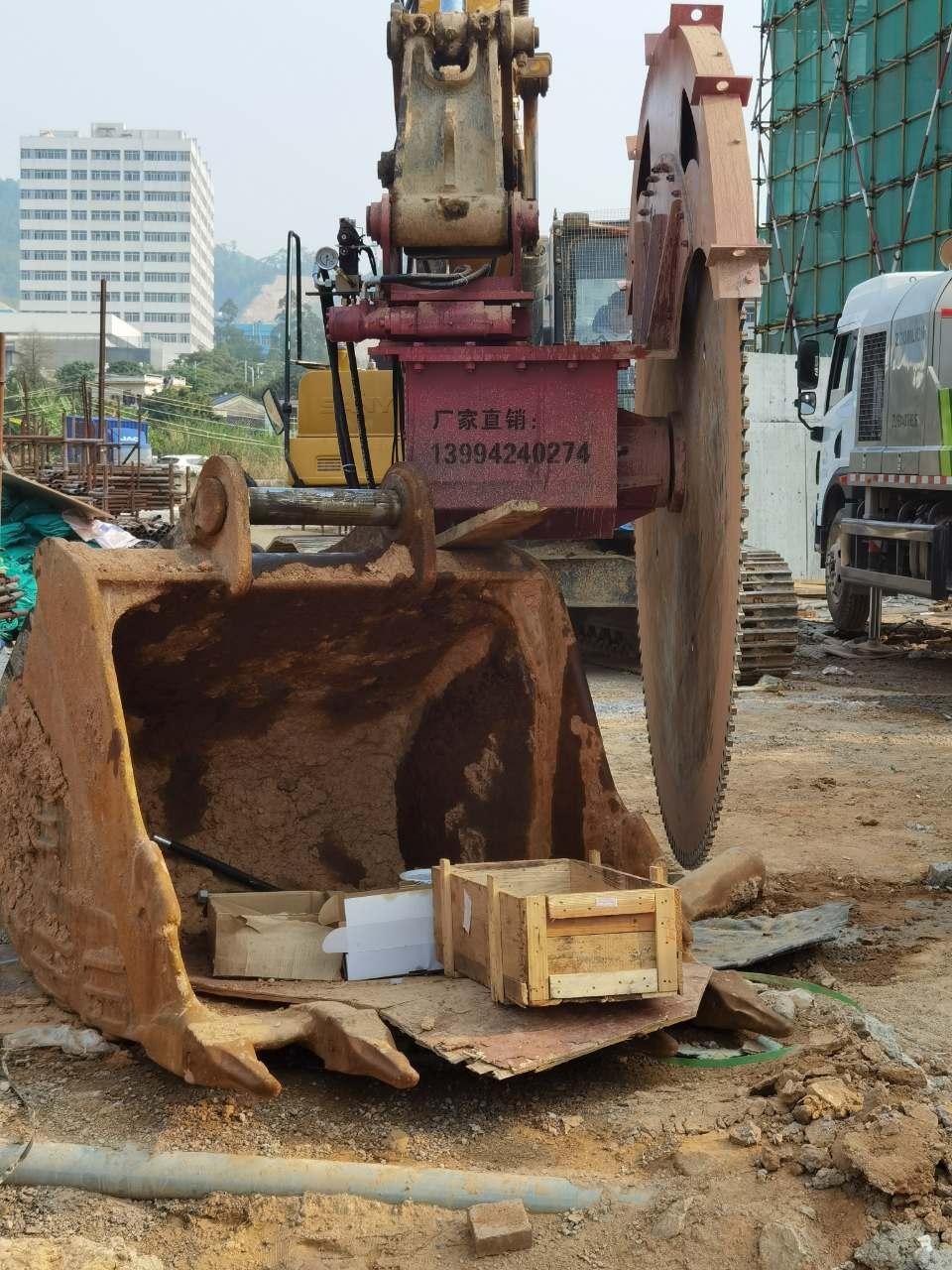 雅安市徐工回转伸缩岩石锯圆盘锯挖掘机驱动岩石锯切割速度快