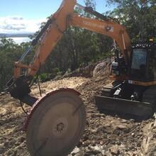 惠州市二手锯石机挖掘机驱动岩石锯质保三年图片