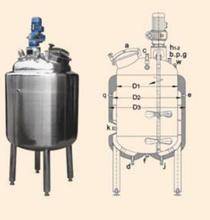 广州方联承接不锈钢乳酸饮料生产设备-果汁生产线不锈钢发酵罐搅拌罐