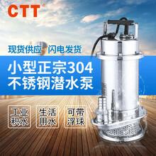 全304不锈钢潜水泵32QDX3-20-0.75不锈钢自动抽水泵qdx小型潜水泵图片