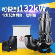离心式水泵潜水污水泵80WQ40-8-1.5kw定制不锈钢污水泵