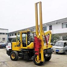 现货定制4吨小型护栏打桩机波形护栏打桩机