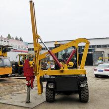沧州桩工机械厂家直销护栏打桩机自行式波形护栏打桩机