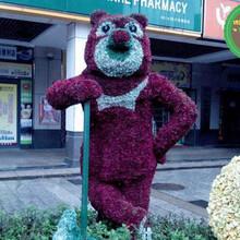 连州狗造型绿雕厂家供货图片
