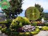 现场制作:木里绿色景观雕塑制作团队工艺精湛