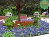 現場制作:西湖立體花壇綠雕展覽