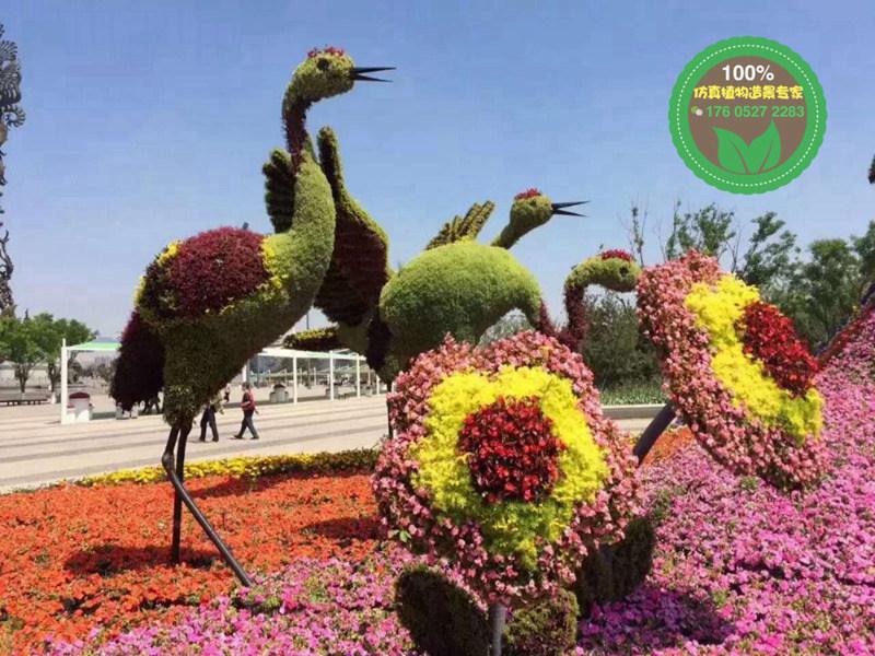 现场制作:兴安立体绿雕植物厂家供应