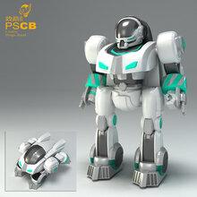 智能玩具开发结构功能设计手板模型制作-智能变形机器人