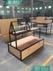 木纹潮品配件台重庆定制不锈钢配件柜时尚自由组合配件柜厂家定制