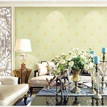 PVC墙纸现代简约纯色素色无纺布墙纸立体3D条纹植绒壁纸温馨客厅背景墙图片