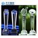 水晶獎牌uv打印機年會員工頒獎獎杯uv打印機水晶獎杯UV定制