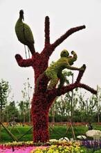 新年春节主题植物造型2020年农历新年主题雕塑绿雕四川成都图片