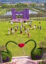 创意活体绿雕造型批发景观仿真绿雕造型定制图片