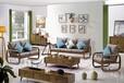 北歐客廳家具白臘木沙發、茶幾、電視柜配套