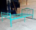 东莞厂家供应单人铁架床出租房单层铁床员工宿舍床