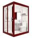 那波利亚克力材质整体卫生间,玻璃墙体