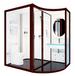 那波利H1621欧式简约铝合金整体浴室3C钢化玻璃一体式卫生间整体卫生间