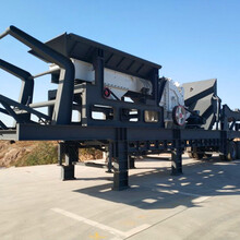 寧夏中衛移動式砂機,移動式石頭制砂機符合國家生產標準圖片