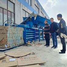 山东济宁汶上县塑料膜液压打包机60吨立式打包机报价图片