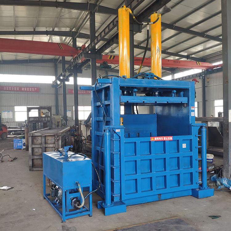 天津红桥塑料瓶液压打包机易拉罐立式打包机