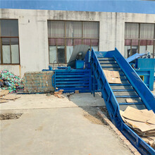天津西青廢紙箱液壓臥式打包機廠家圖片