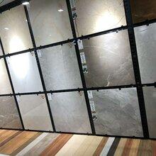 瓷砖陶瓷样品展示架冲孔板挂墙瓷砖展示架销售图片