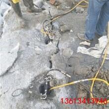 衡水石头硬度高卡特打不动用劈裂机图片