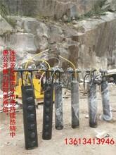 松原修建玻璃栈桥挖石头用劈裂机产量图片