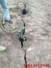 廣安挖坑基遇到硬石頭用脹石機石頭效率圖片