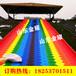 规划设计彩虹滑道场地七彩滑草道安装彩虹滑梯儿童游乐设备