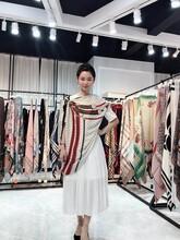 真絲絲巾歐美大牌印花真絲絲巾100%桑蠶絲圖片