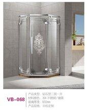 卫标卫浴VB-068钻石型二固一开淋浴房厂家直销