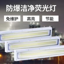 LED防爆洁净荧光灯净化灯40w80w吸顶嵌入式超薄三防格栅灯图片