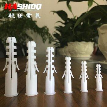 塑料膨脹管6MM自攻螺絲釘膠塞膨脹螺絲膠粒螺栓膨脹管7號81012mm