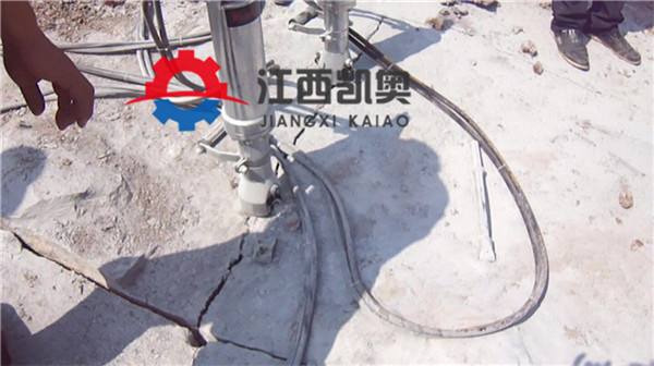 劈裂机液压劈裂机挖基坑破开硬石头地基劈石机南通