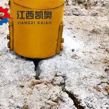 液壓劈巖機如何裂破基坑巖石大同公路擴建巖石劈裂機圖片