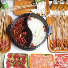 九品鍋燒烤火鍋自助,中衛擺攤火鍋燒烤食材超市圖片