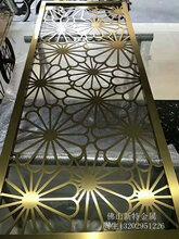拉丝镀金铝镂空雕花屏风成为家居装饰不可分割的整体图片