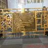 北京豪宅雕花铜艺楼梯护栏中式搭配效果