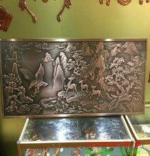 中式铝板浮雕壁画客厅ぷ铝艺浮雕图↓案背景�媲蕉ㄖ仆计�