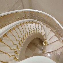 石家莊新款精雕鏤空家用別墅樓梯銅扶手色彩恒久圖片