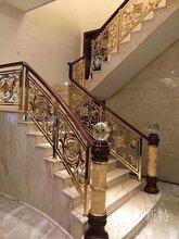 浙江別墅全銅樓梯扶手原來今年都流行這些款圖片