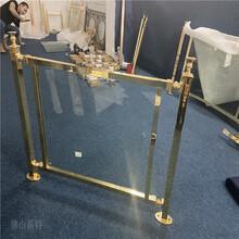 韶關K金鋁管夾玻璃樓梯護欄別墅鋁藝樓梯扶手現代特色圖片