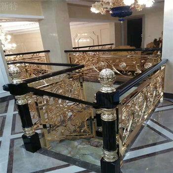 朔州新型別墅純銅板雕花樓梯扶手結構堅固美觀