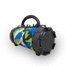 F18无线圆筒蓝牙音箱迷彩手机支架插卡户外便携式手电筒炮筒音箱