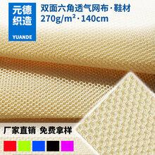 供应三明治网布双面六角网眼布空气层夹层面料三明治汽车座套服装图片