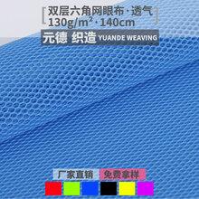 厂家直销六角网眼布轻薄菱形网眼布服装针织面料图片