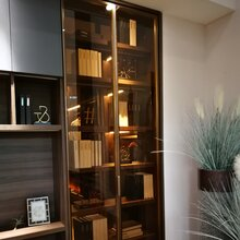 典范新款极简威法款天地铰链衣柜玻璃门铝材或半成品门