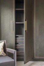 板式家具整体家居配套衣柜橱柜门板造型配套小铝条及拉手亚黑/土豪金现货